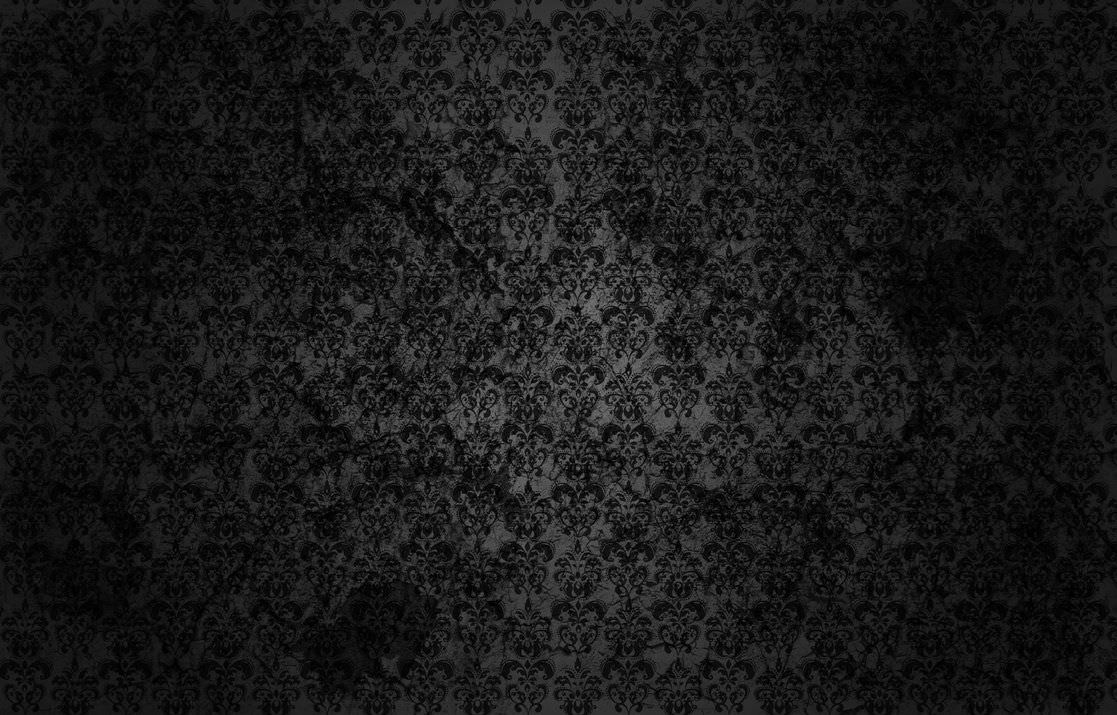 Black Damask Grunge Wallpaper