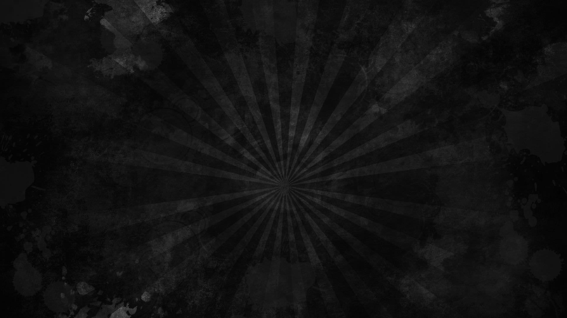 Black Grunge Sunburst Wallpaper