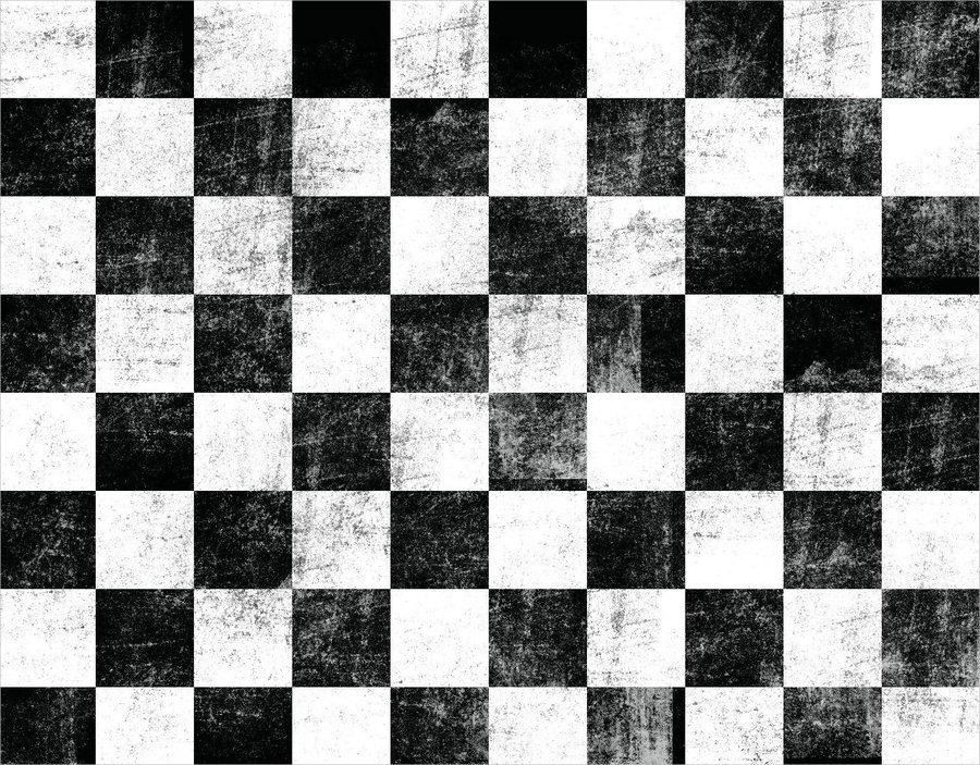 Black Rock Shooter Checkerboard Pattern