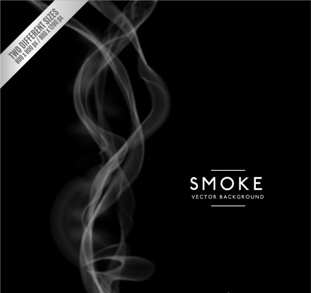 Black Smoke Background Free Vector