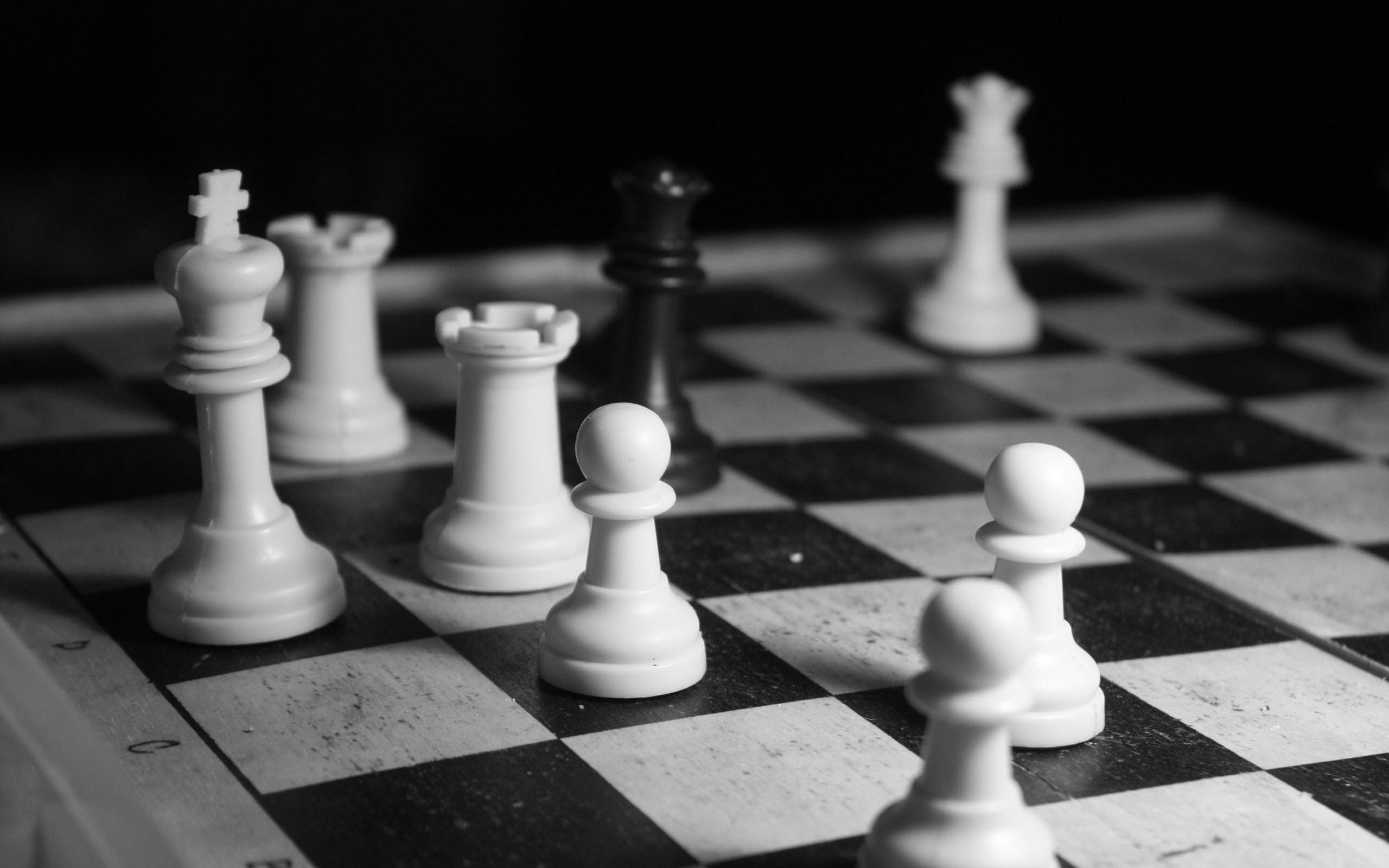 Black & White Chess Wallpaper