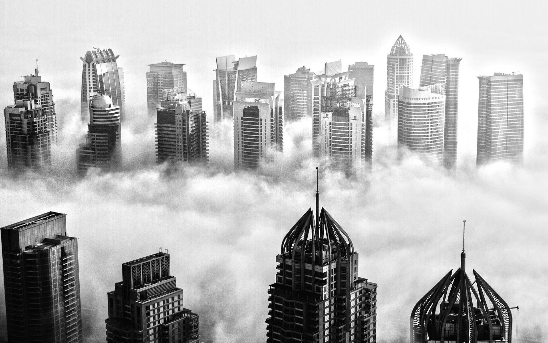 Black & White Dubai Wallpaper