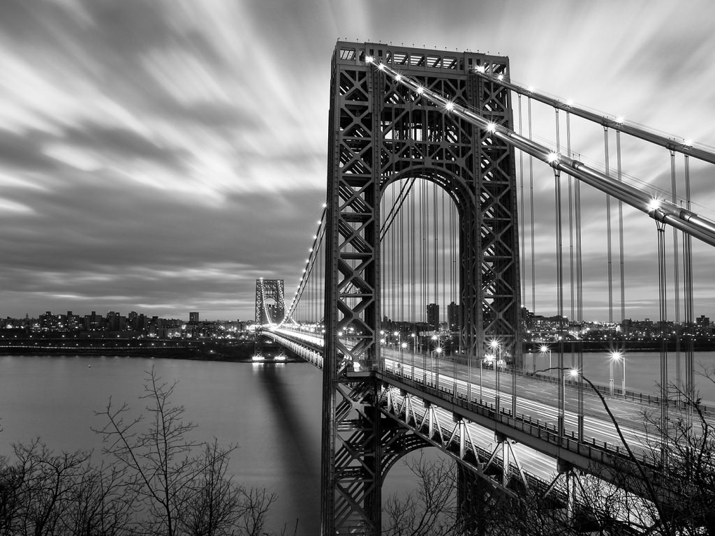 Black & White George Washington Bridge