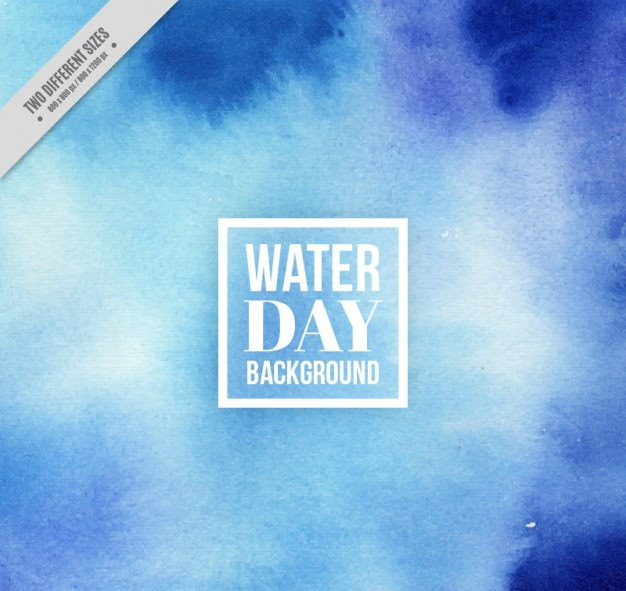 Blue Abstract Waterday Background