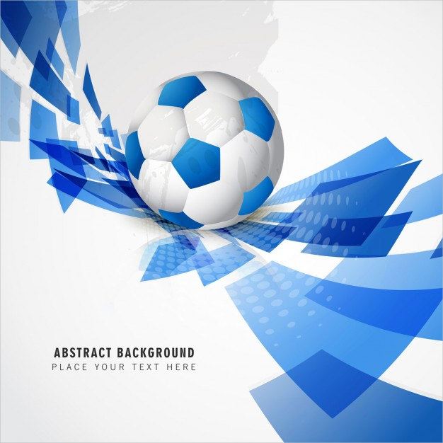 Blue Football Background Free Vector