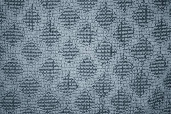 Blue Gray Dish Towel with Diamond Pattern Close Up Texture Background
