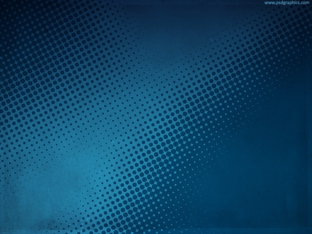 Blue Grunge Halftone Background