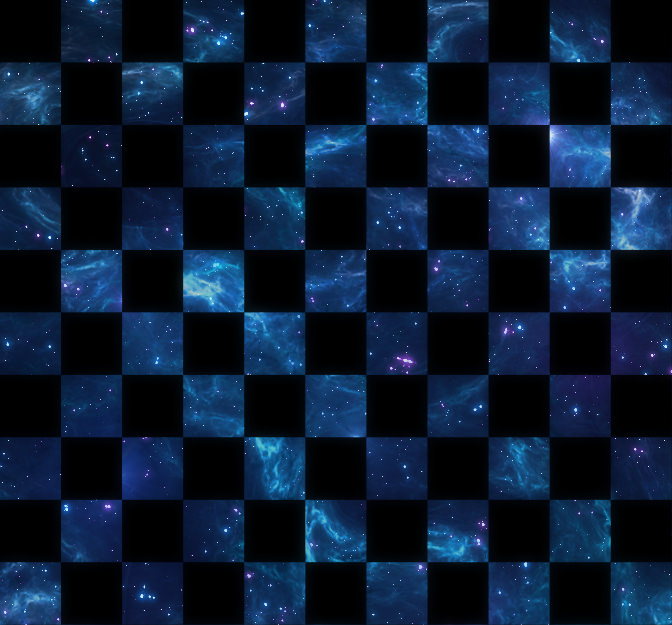 Blue & Purple Stars Checkerboard Pattern