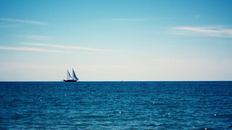 Boat Ocean Wallpaper