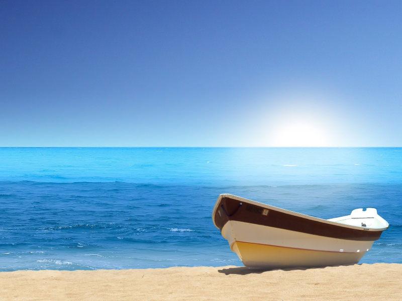 Boat Sea Beach Wallpaper