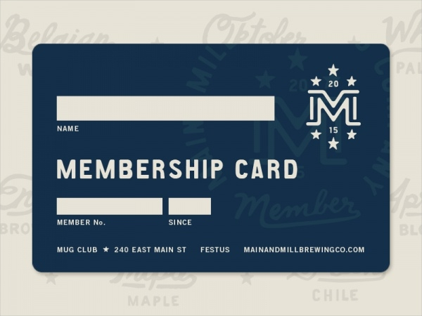 Charming Branding Identity Membership Card Ideas Membership Cards Templates