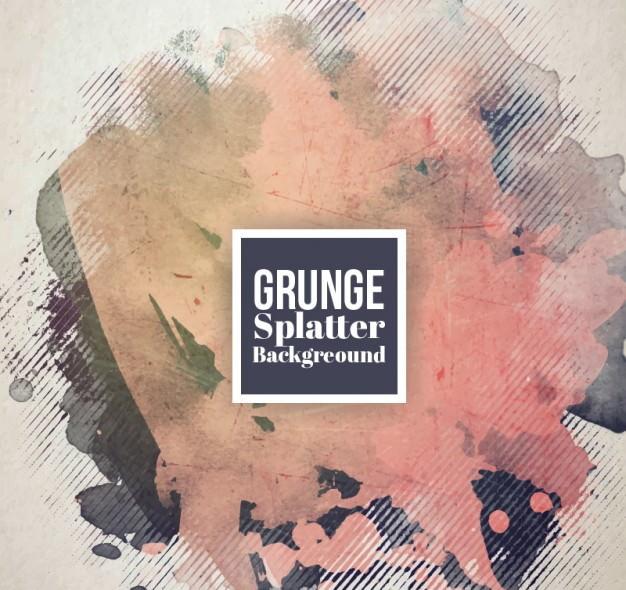 Brown Grunge Splatter Background