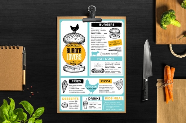 Burger menu restaurant Brochure