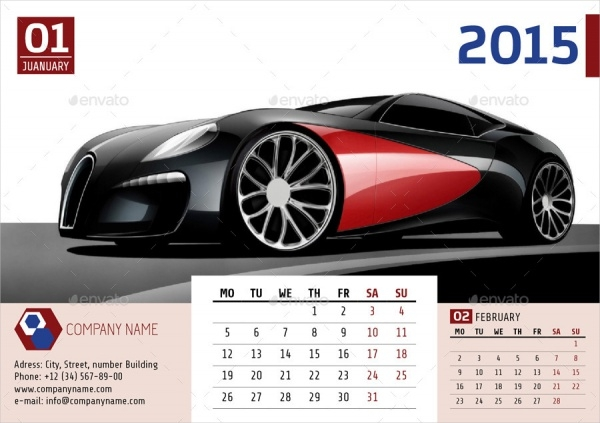 Business Desk Calendar