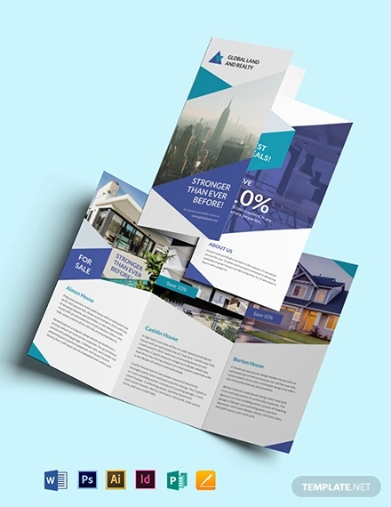business landscape trifold brochure template