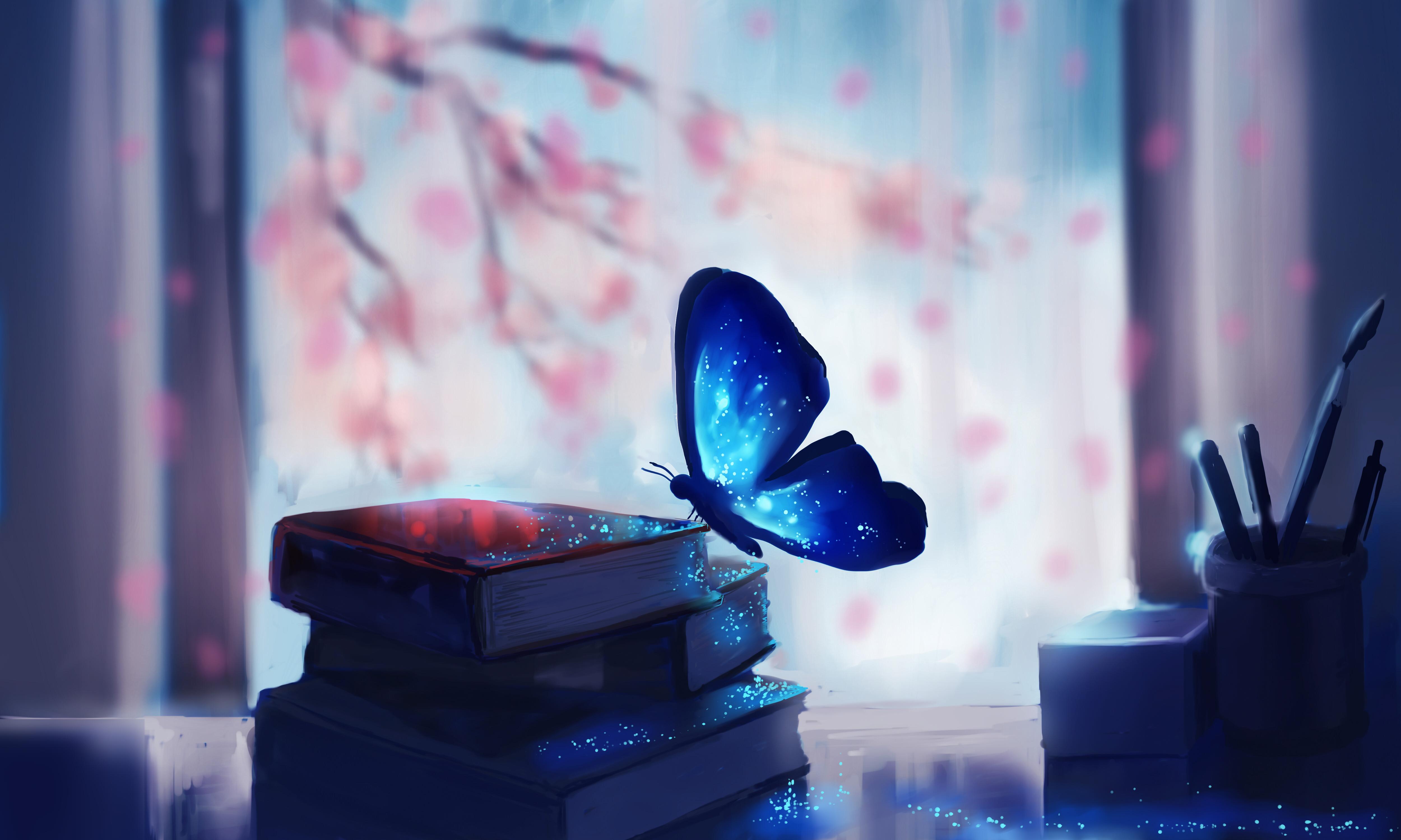 Butterfly Glitter Wallpaper