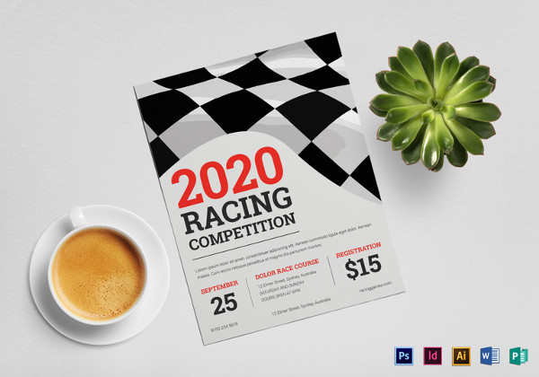 23 stunning racing flyer designs creatives psd ai indesign