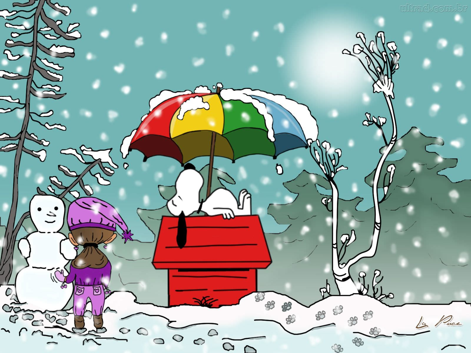 winter wallpaper charlie brown -#main