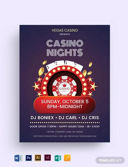 casino ad flyer template