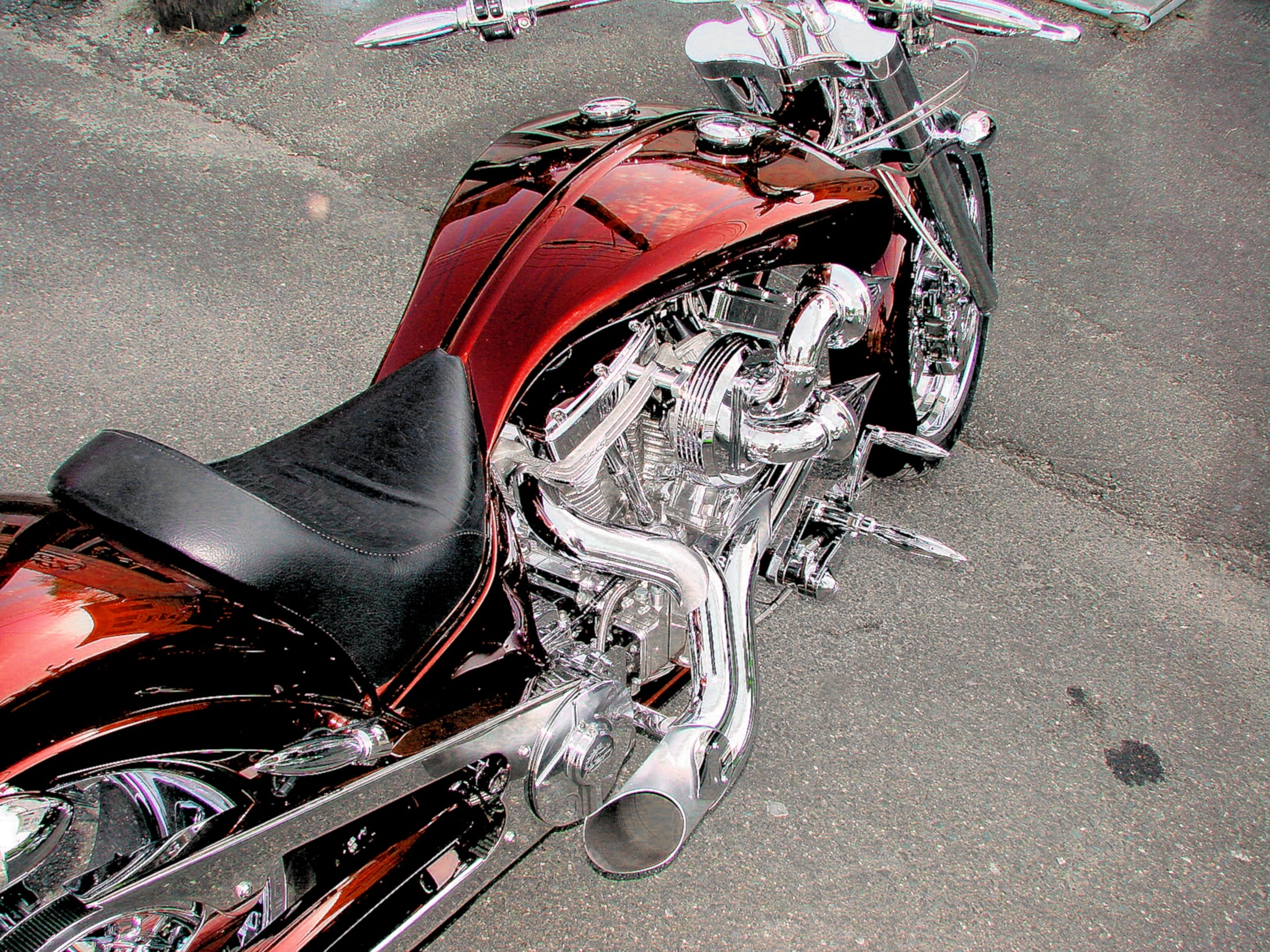 Chopper Motorcycle Wallpaper
