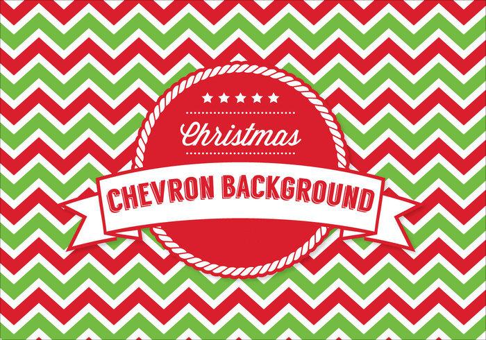 Christmas Chevron Pattern Background