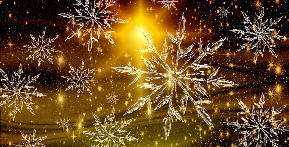 Christmas Star Crystal background