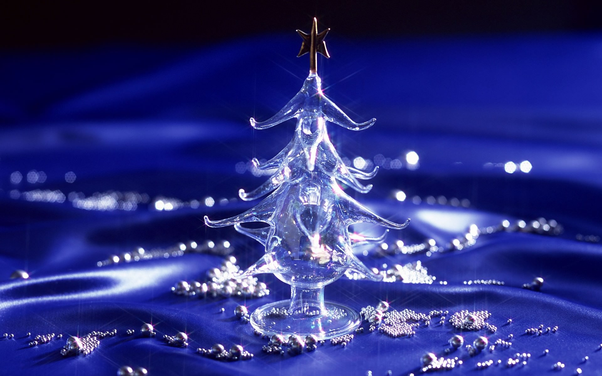 Christmas Tree Crystal Background