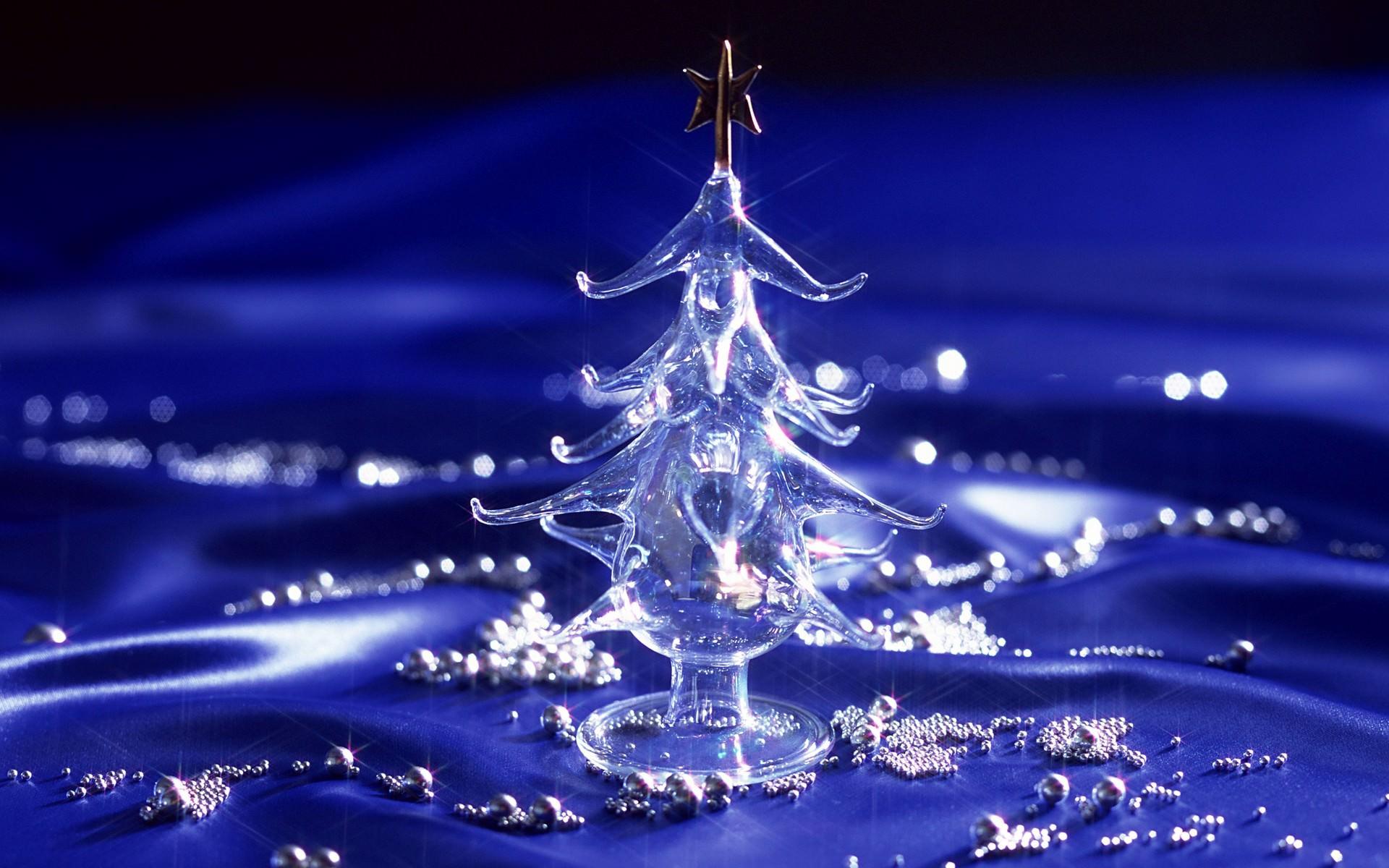 Christmas Tree Crystal Background