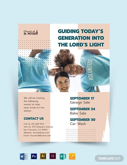 church fundraiser flyer template1