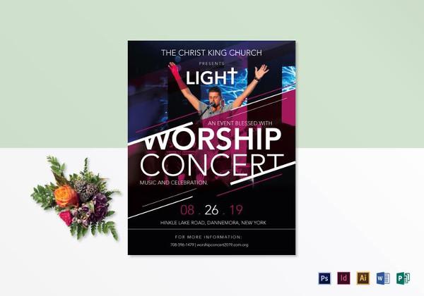 church worship concert flyer template1