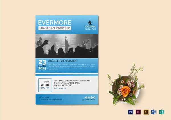 church worship flyer template