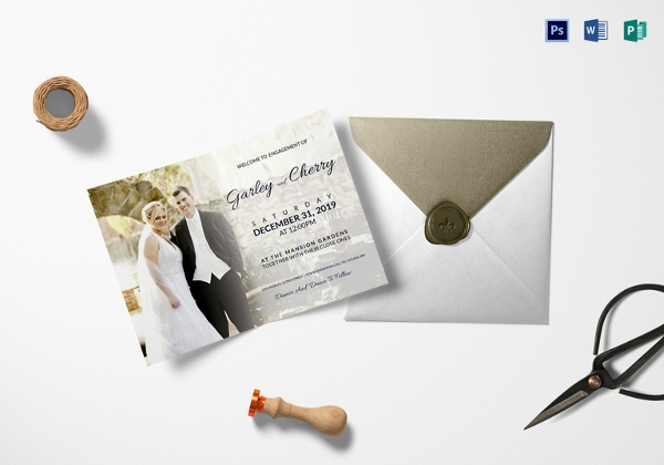 Classic Engagement Invitation Template