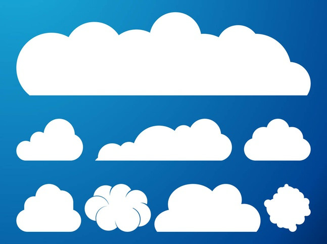 Clouds Vector Graphics Set