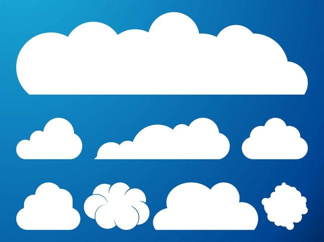 Clouds Vector Graphics Set