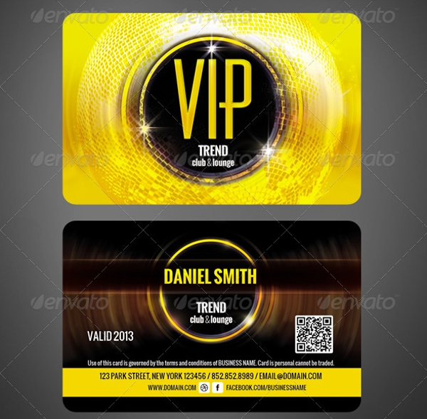 Club Membership Card Design