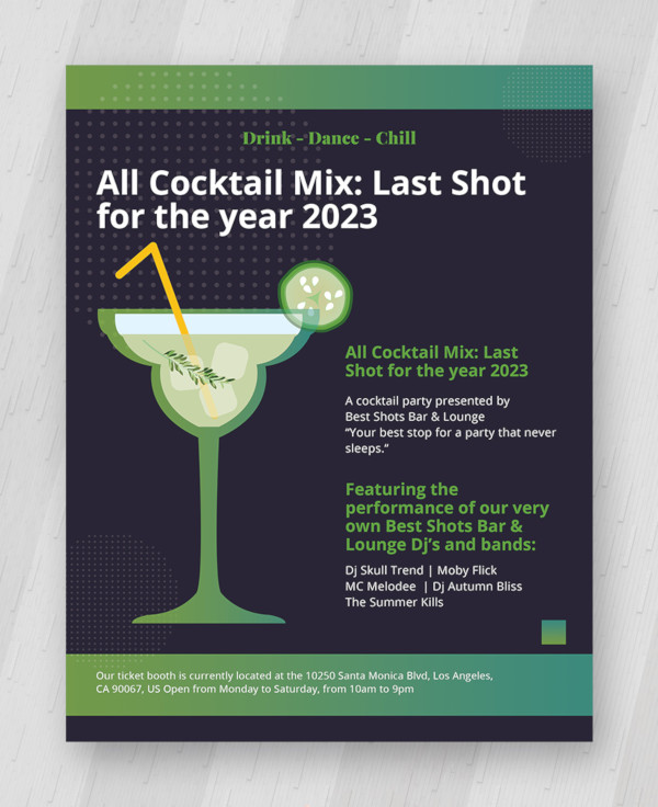 cocktail party flyer template