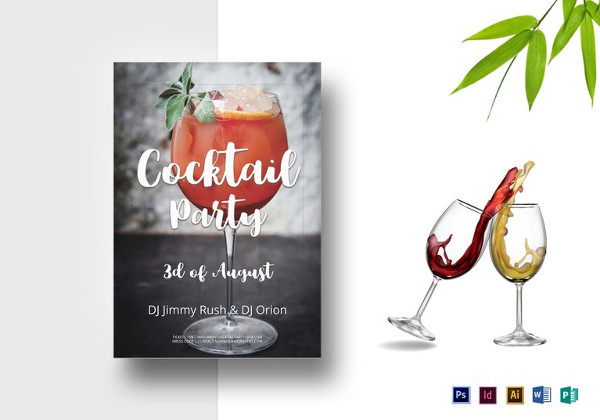 Cocktail Summer Party Flyer in PSD
