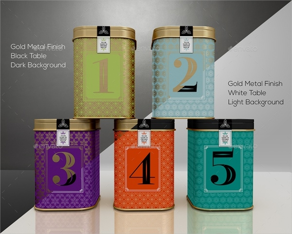Coffee Square Tin Cans Packaging