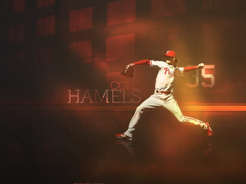 Cole Hamels Baseball Wallpaper