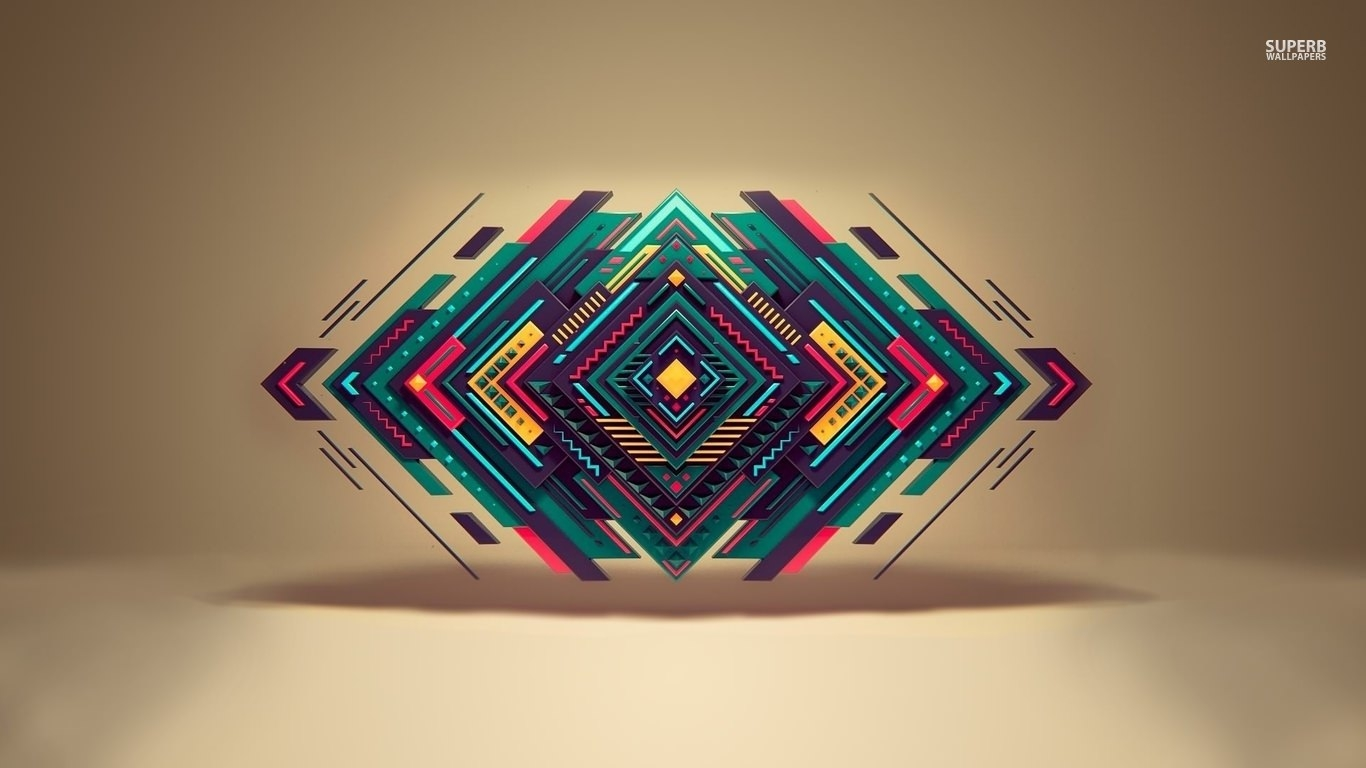 Colorful Abstract Shapes Floating Background