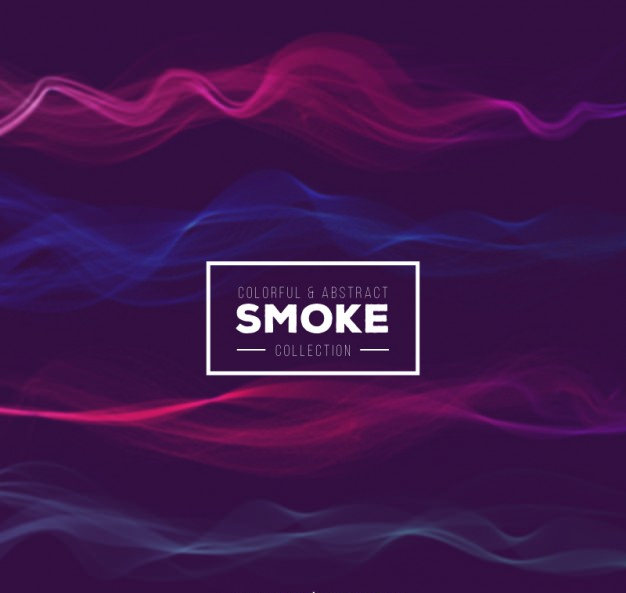 Colorful & Abstract Smoke Free Vector