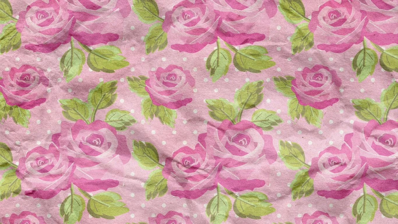 Colorful Floral Paper Texture