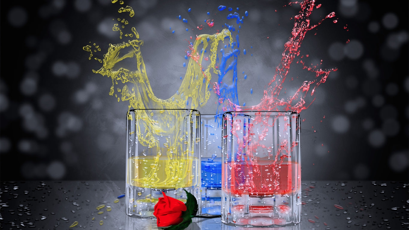 Colorful Splash Artistic Wallpaper