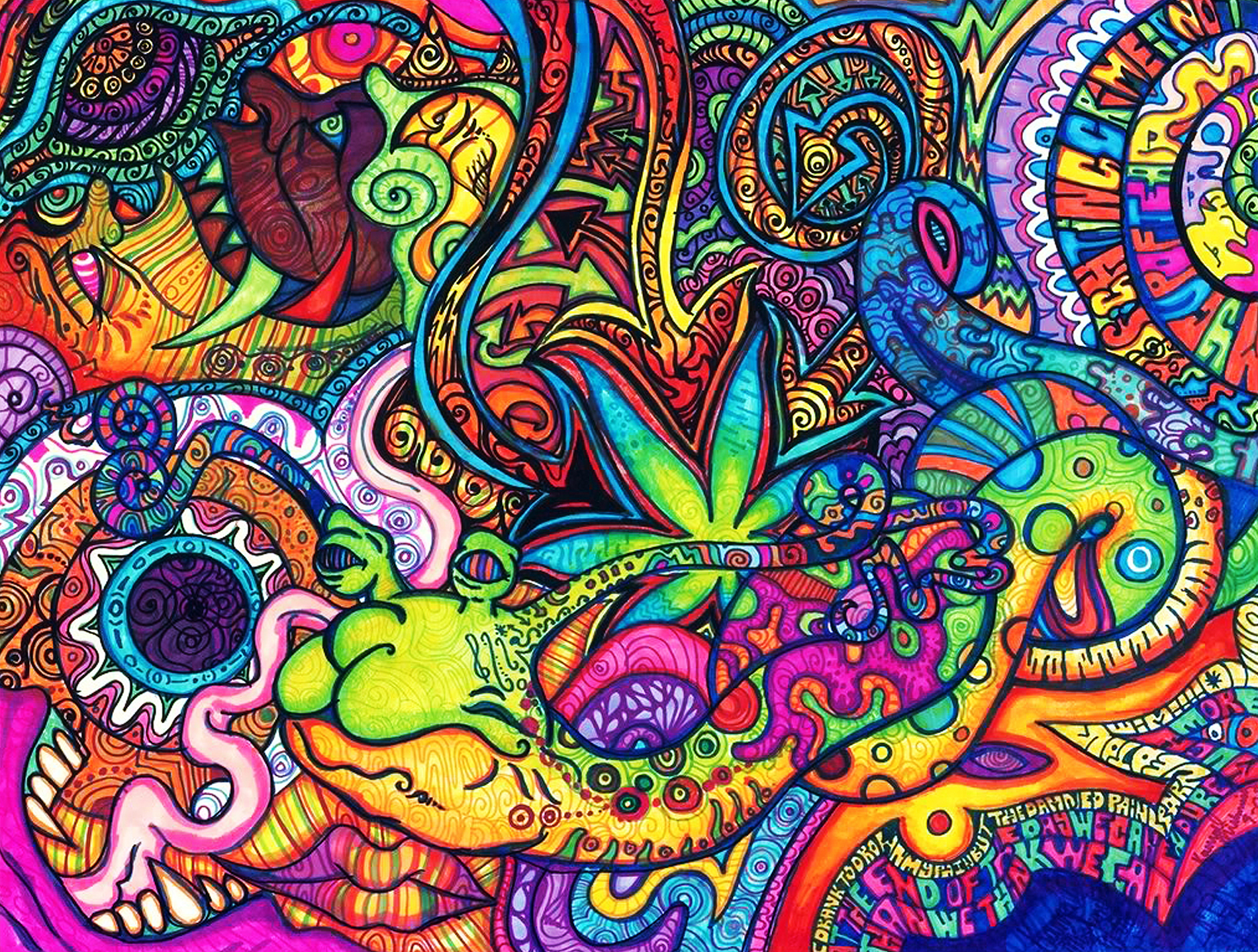 Colorful Trippy Wallpaper