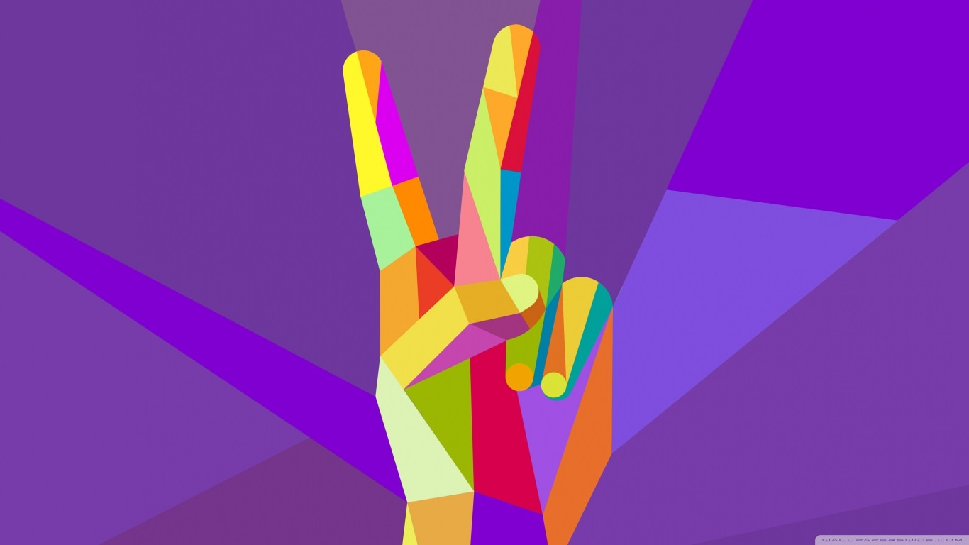 Colorful Two Fingers wallpaper