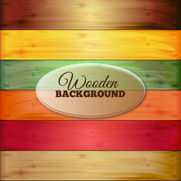 Colorful Wooden Background Free Vector