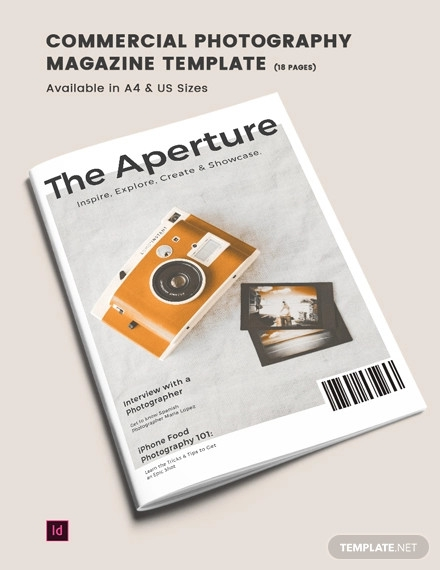 commercial photography magazine template