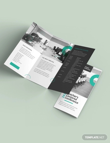 conference tri fold brochure template