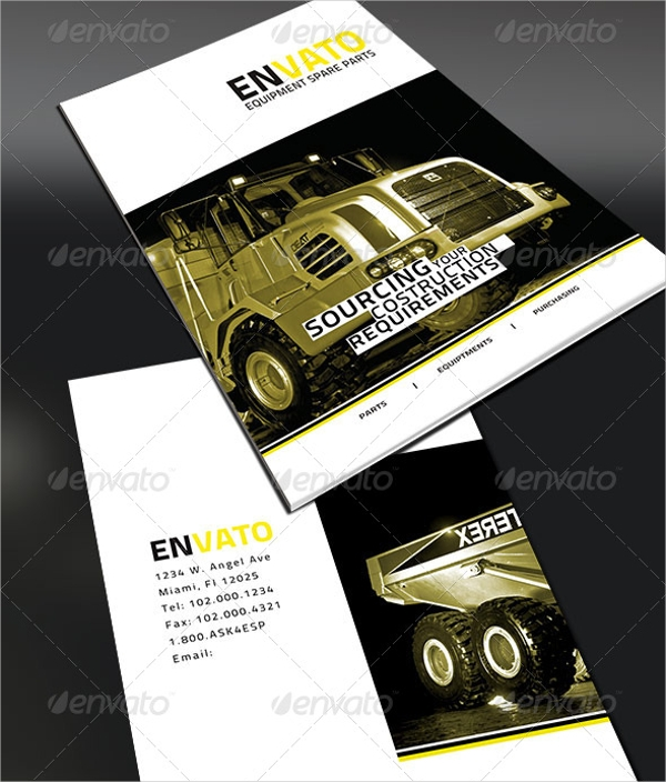 Construction Supply Brochure Template