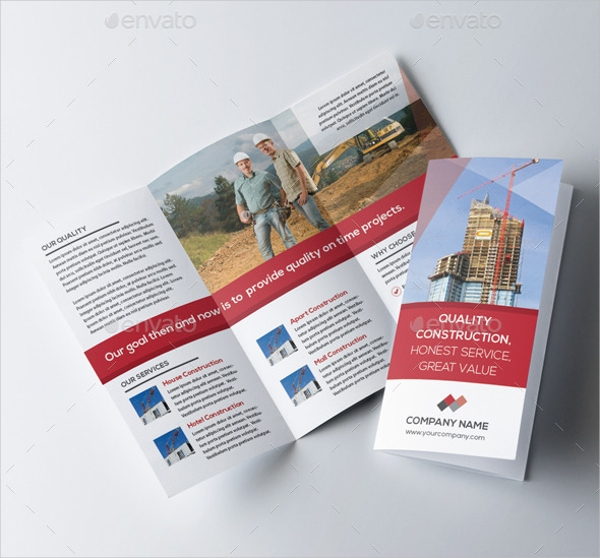 Construction Brochure Designs PSD Vector EPS JPG Download - Construction brochure templates